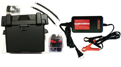 Trolling motor battery box kit marine grade u1 box fits for Marine trolling motor batteries